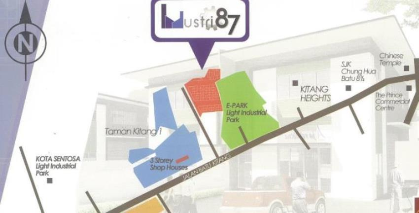 2/S semi detached factory at Batu Kitang @ 7th Mile